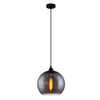 CLA Raindrop Effect Round Shaped Smoke Black Glass 1x E27 240V