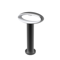 CLA Exterior LED Surface Mounted Bollard Light 300mm  Black 240V 3000K 9W IP54