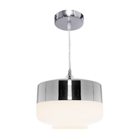 Cougar 1Lt Pendant Frosted Glass/Chrome  1x E27 240V