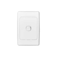Flush Switch, 1 Gang, 250VAC, 10A, Series 2000, Standard, Vertical, 2031VA-WE, White Electric