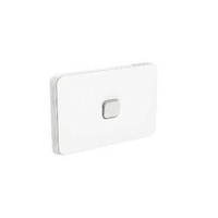 Clipsal Iconic - Flush Switch, Horizontal Mount, 1 Gang, 1-Way/2-Way, 250V, 10AX, LED, 3041HAL