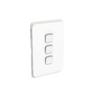 Clipsal Iconic - Flush Switch, 3 Gang, Vertical Mount, 1-Way/2-Way, 250V, 10AX, 3043VA
