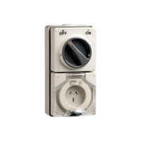 56 Series - Socket Switch Surface IP66 3PIN 15A 56C315-GY