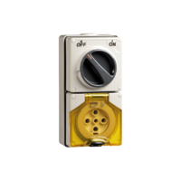 56 Series - Socket Switch Surface IP66 5PIN 3POLE 32A 56C532-GY