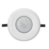 Motion Infrared Sensor Sensor, 10A, 3 Wire, Flush Mount Electric, 753R-WE, White Electric