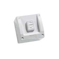 Surface Switch, 1 Gang, 1 Pole, 250VAC, 16A, WS Series, M80 - square, WS226-RG, Resistant Grey