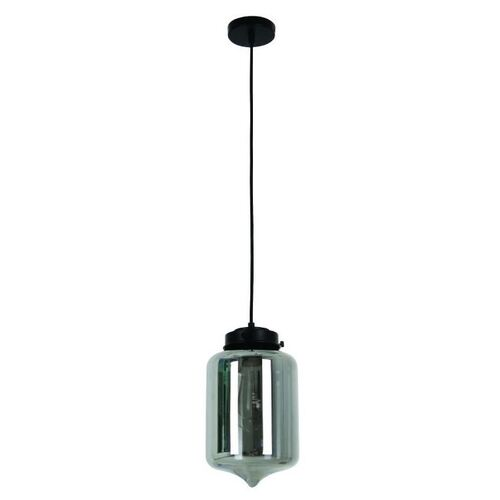 CLA Tipped Glass Pendant  Smoke Black Glass  1x E27 240V