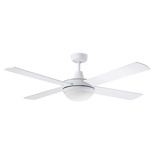 Martec Ceiling Fan White 52inch 4 Blade with 24W Tricolour LED Light