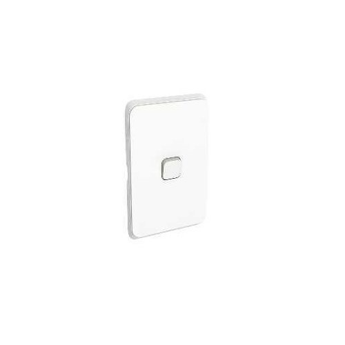Clipsal Iconic - Flush Switch, 1 Gang, 1-Way/2-Way, Vertical Mount, 250V, 10AX, 3041VA-VW, Vivid White
