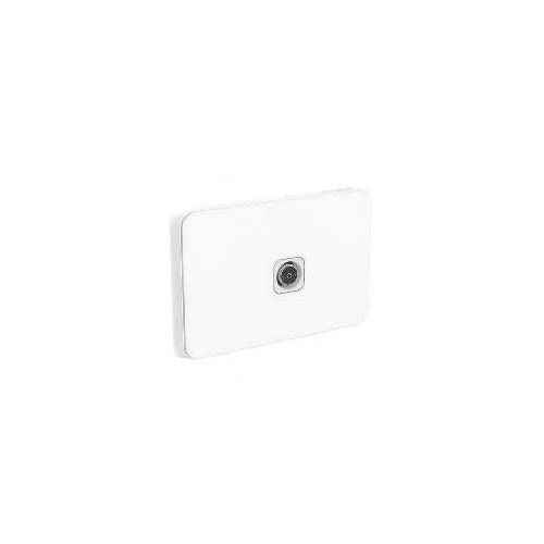 Clipsal Iconic - TV PAL Antenna Socket Plate, F-Type, Single Gang, 75 Ohm, 3041VTV75F-VW, Vivid White