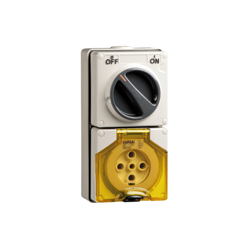 56 Series - Socket Switch Surface IP66 3PIN 32A 56C332-GY